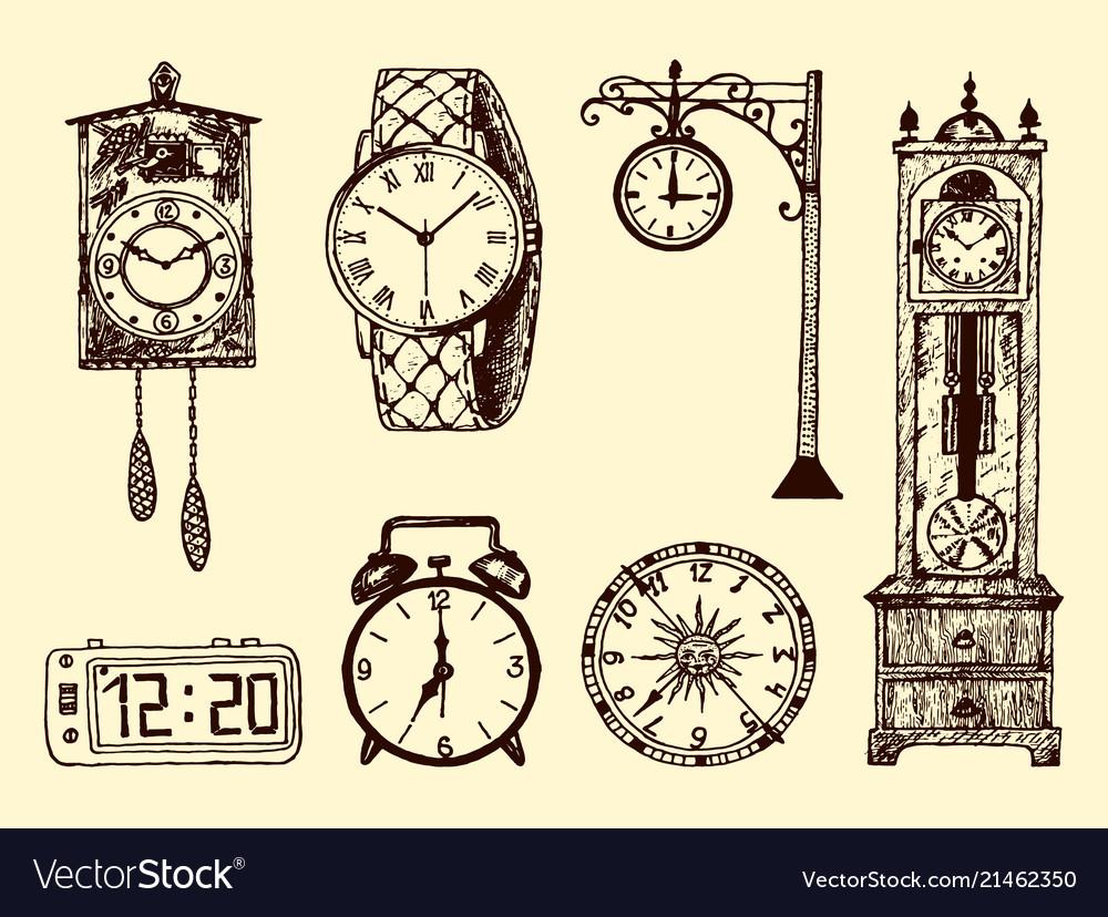 Vintage classic pocket watch alarm clock