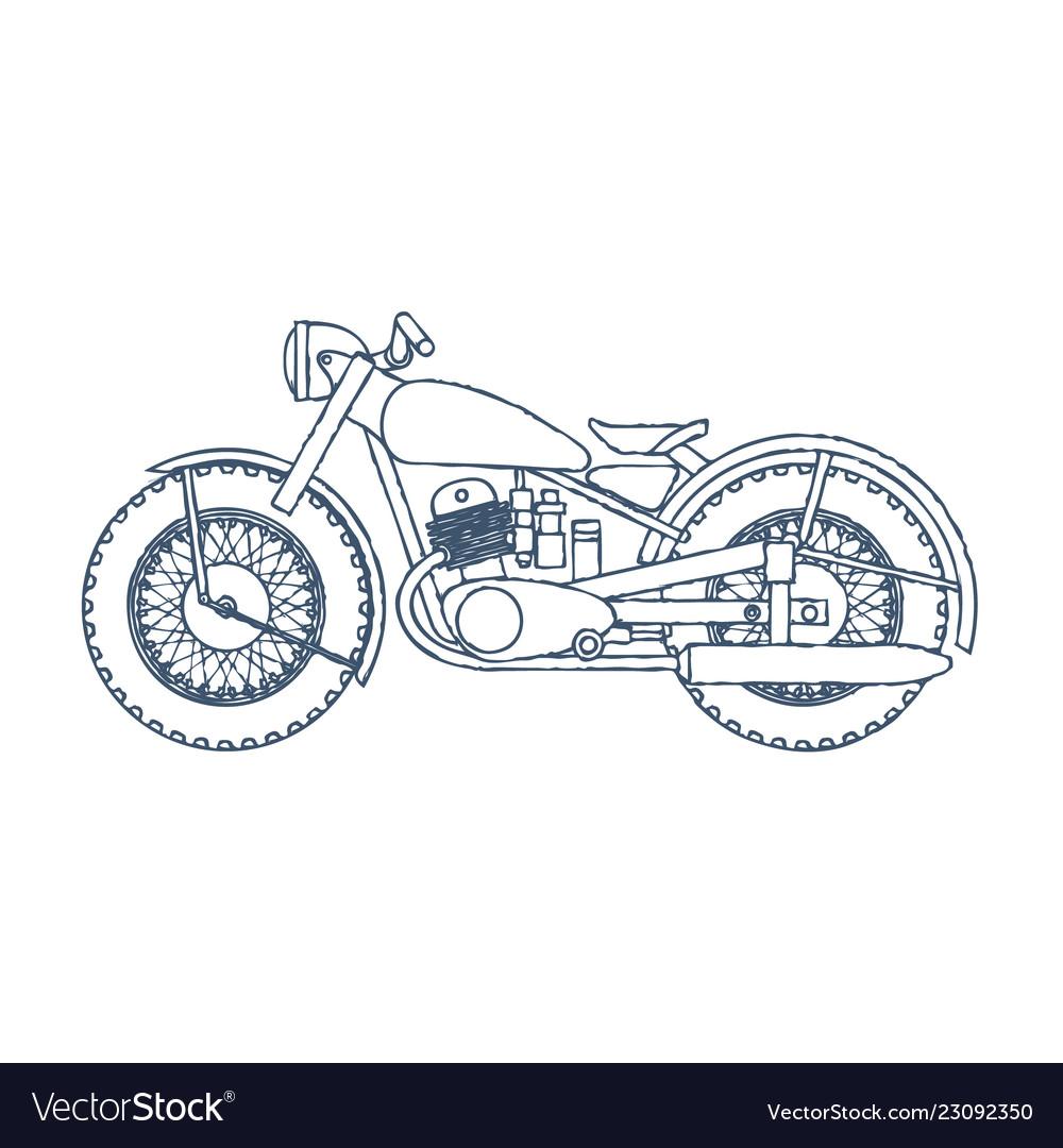 vintage motorcycle logo design template royalty free vector