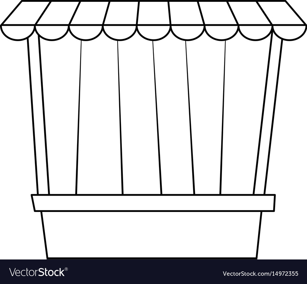 circus game booths border wooden blank royalty free vector