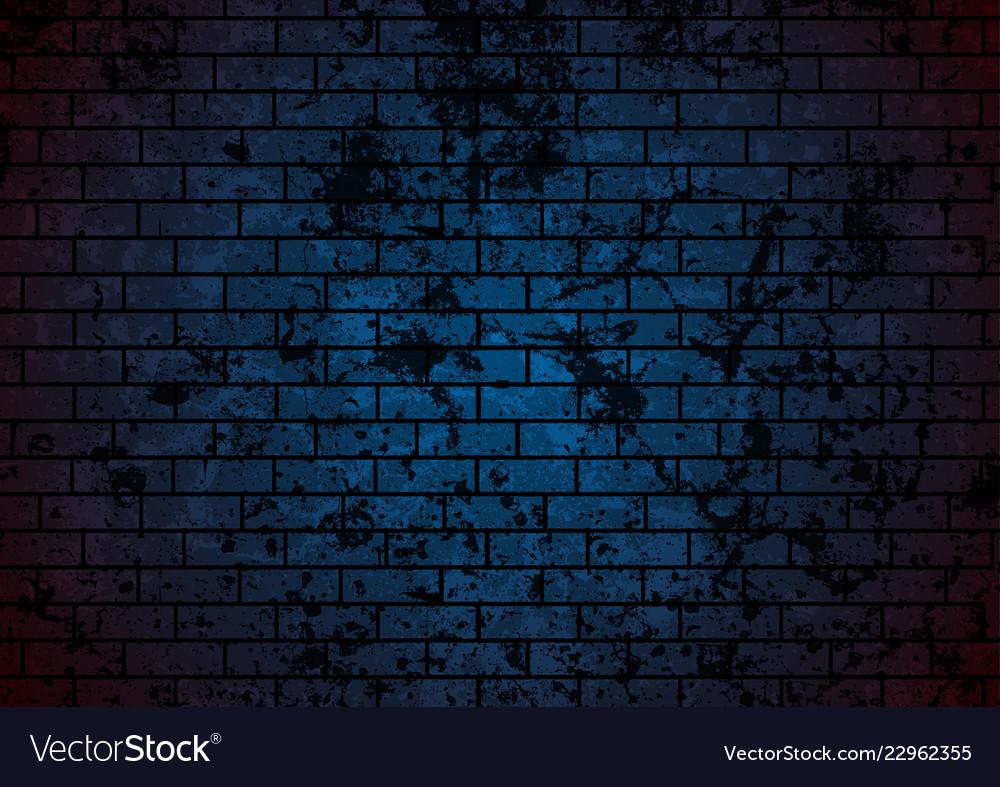 Dark blue grunge brick wall background