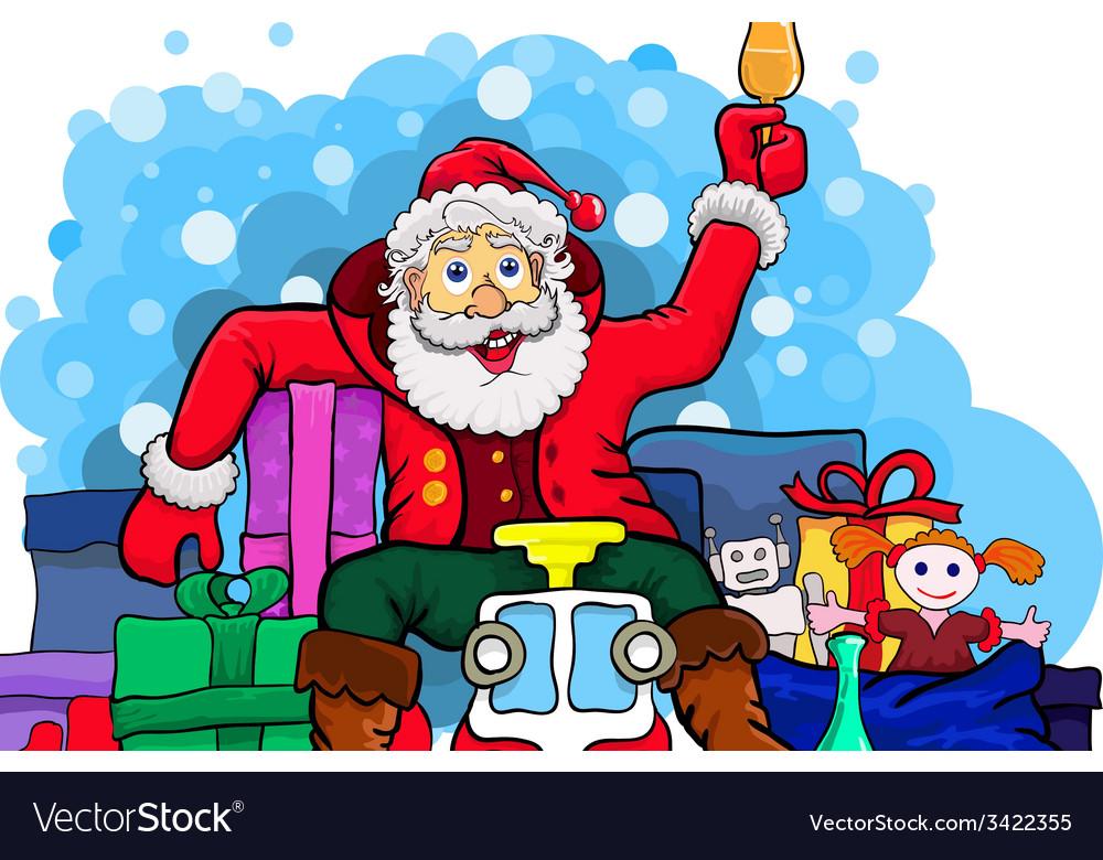 Drunk Santa Claus Royalty Free Vector Image Vectorstock