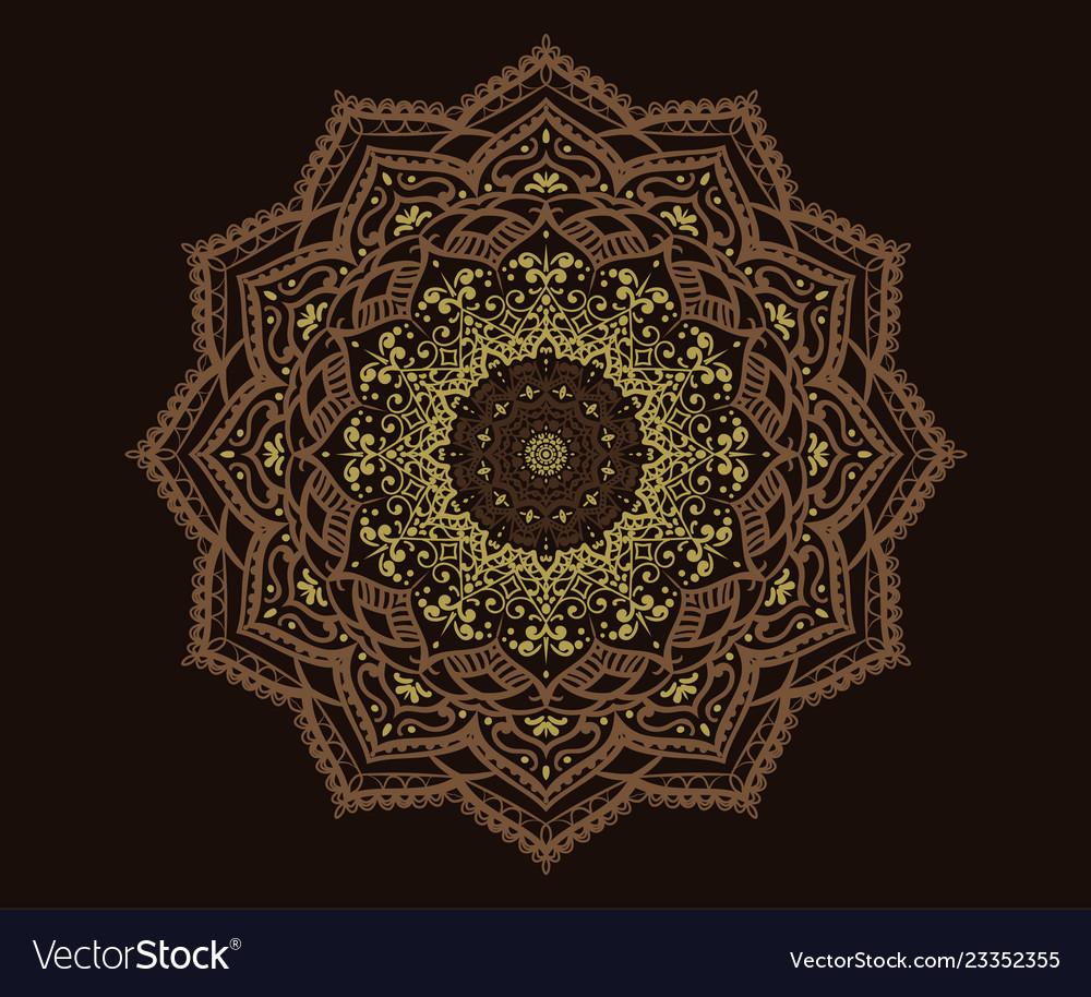 Modern decorative floral color mandala