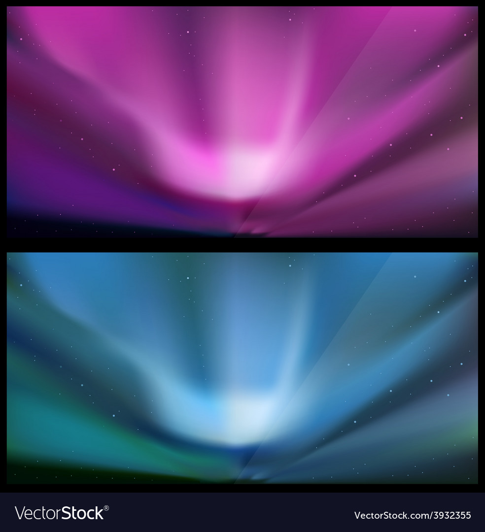 Nothern blue aurora backgrounds vector image