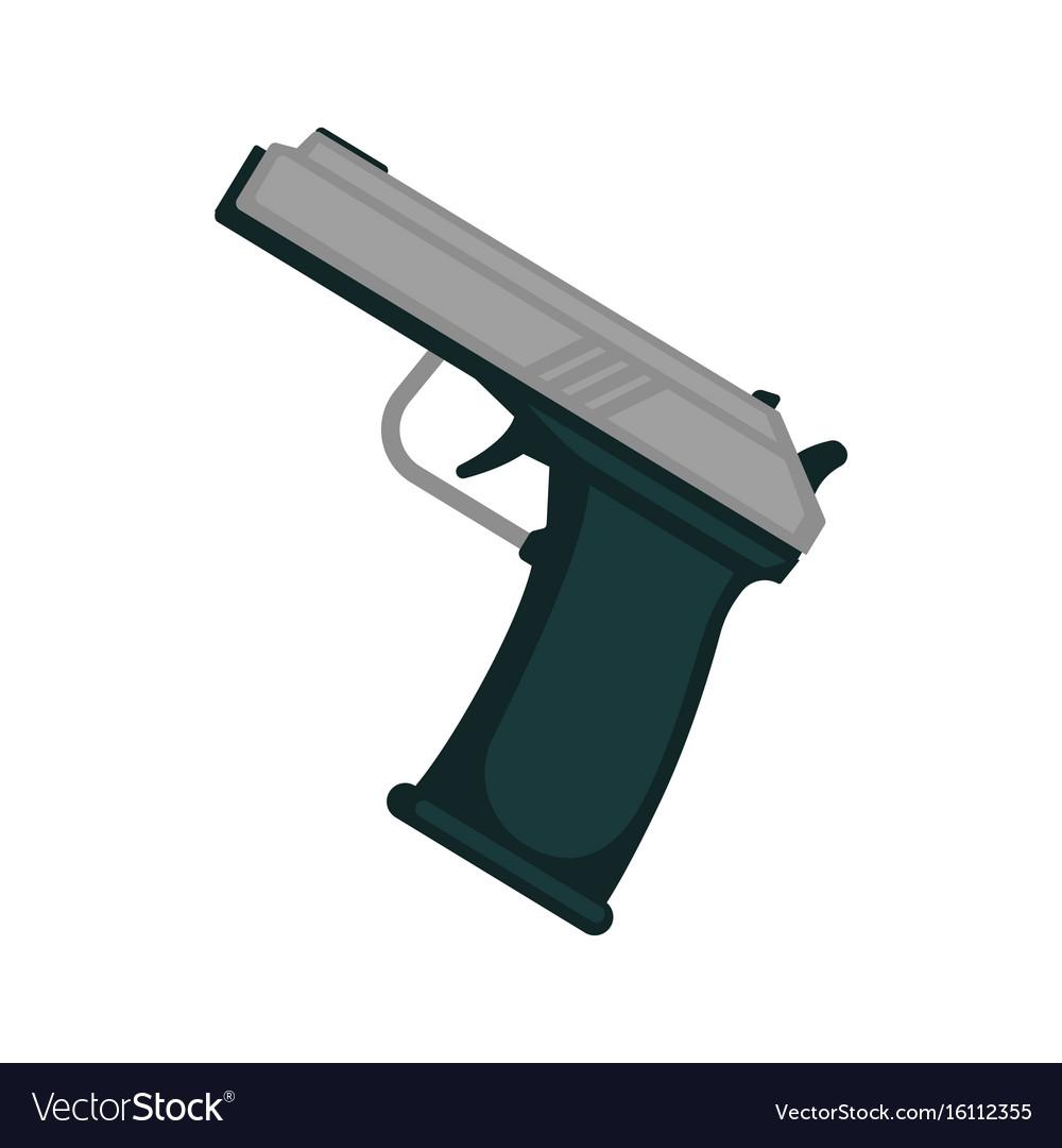 Simple metal handgun
