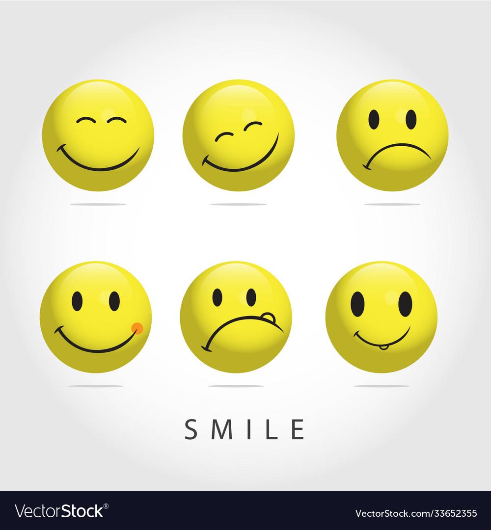 Smile emoticon template design