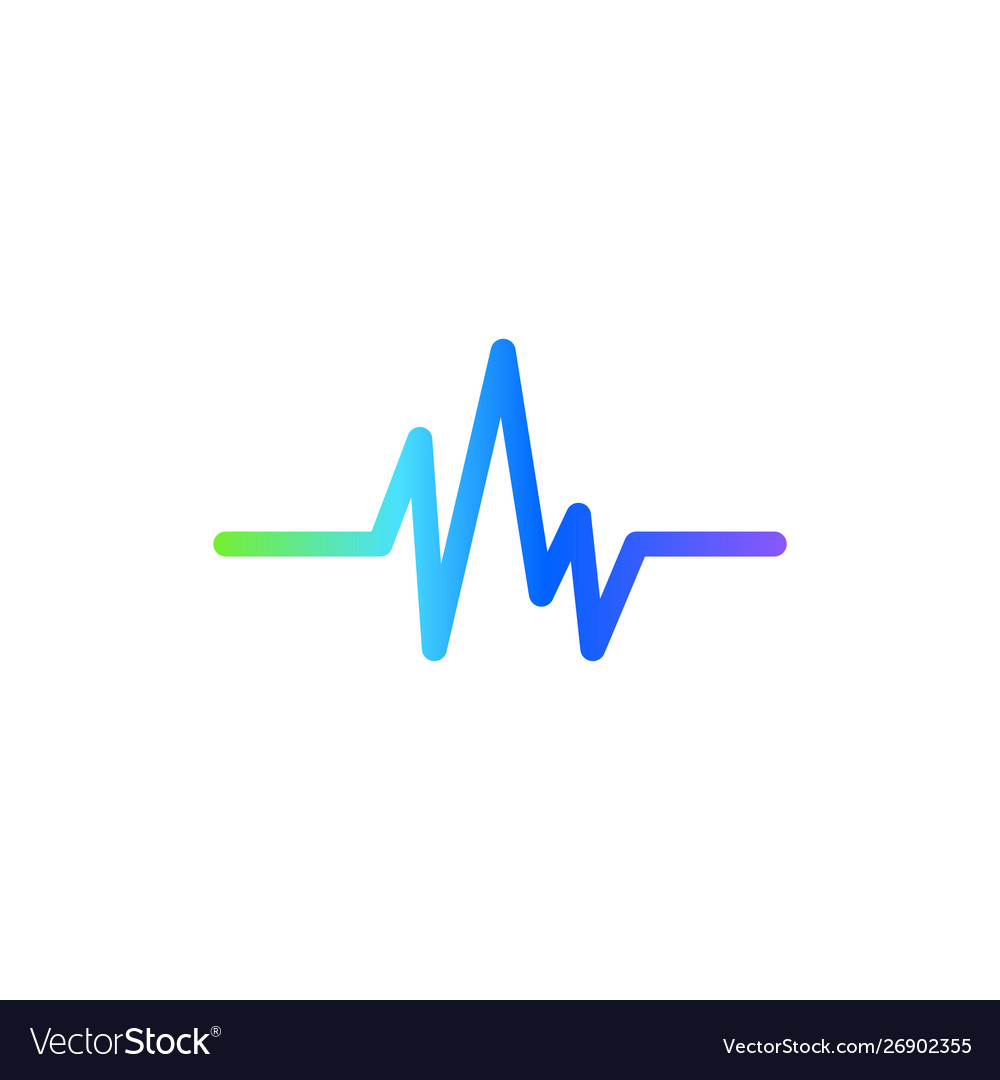 Sound wave graphic design template isolated