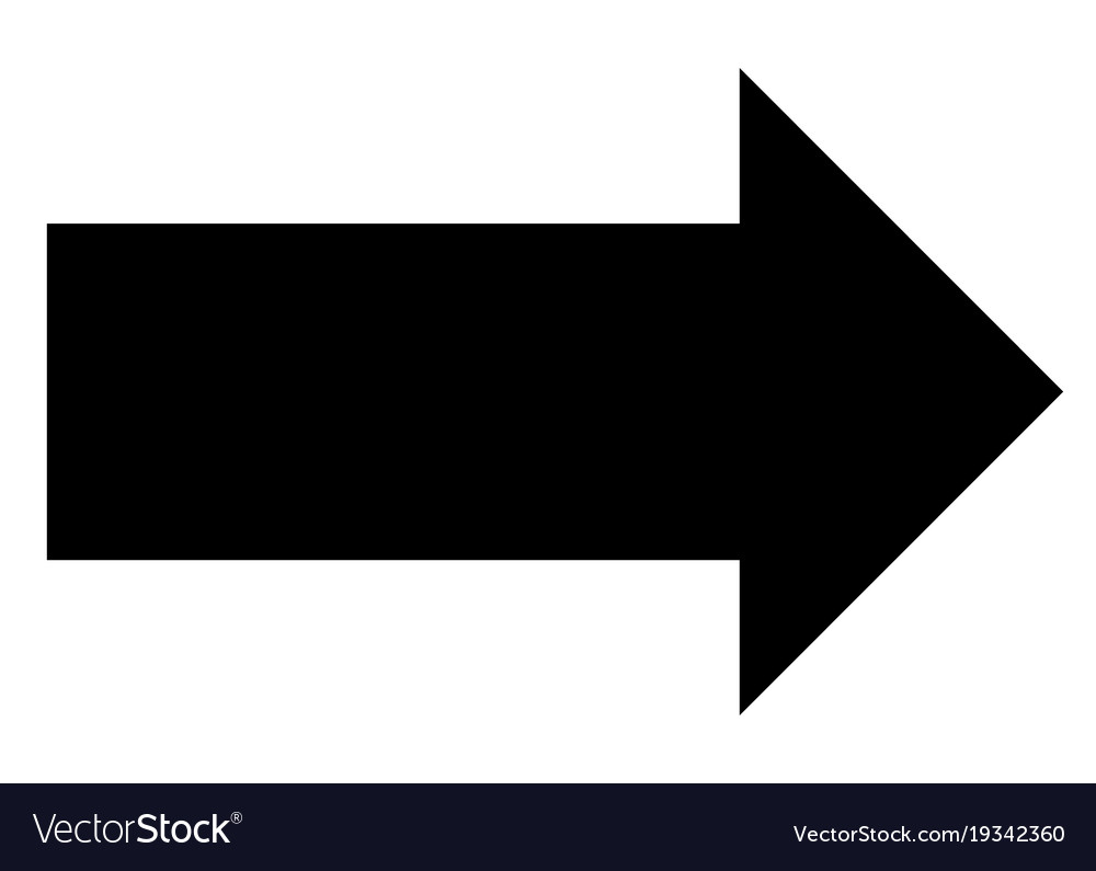 Arrow icon on white background arrow sign black