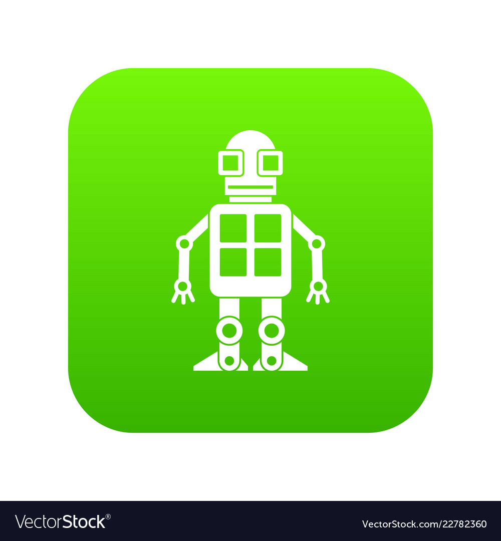 Artificial intelligence concept icon digital green