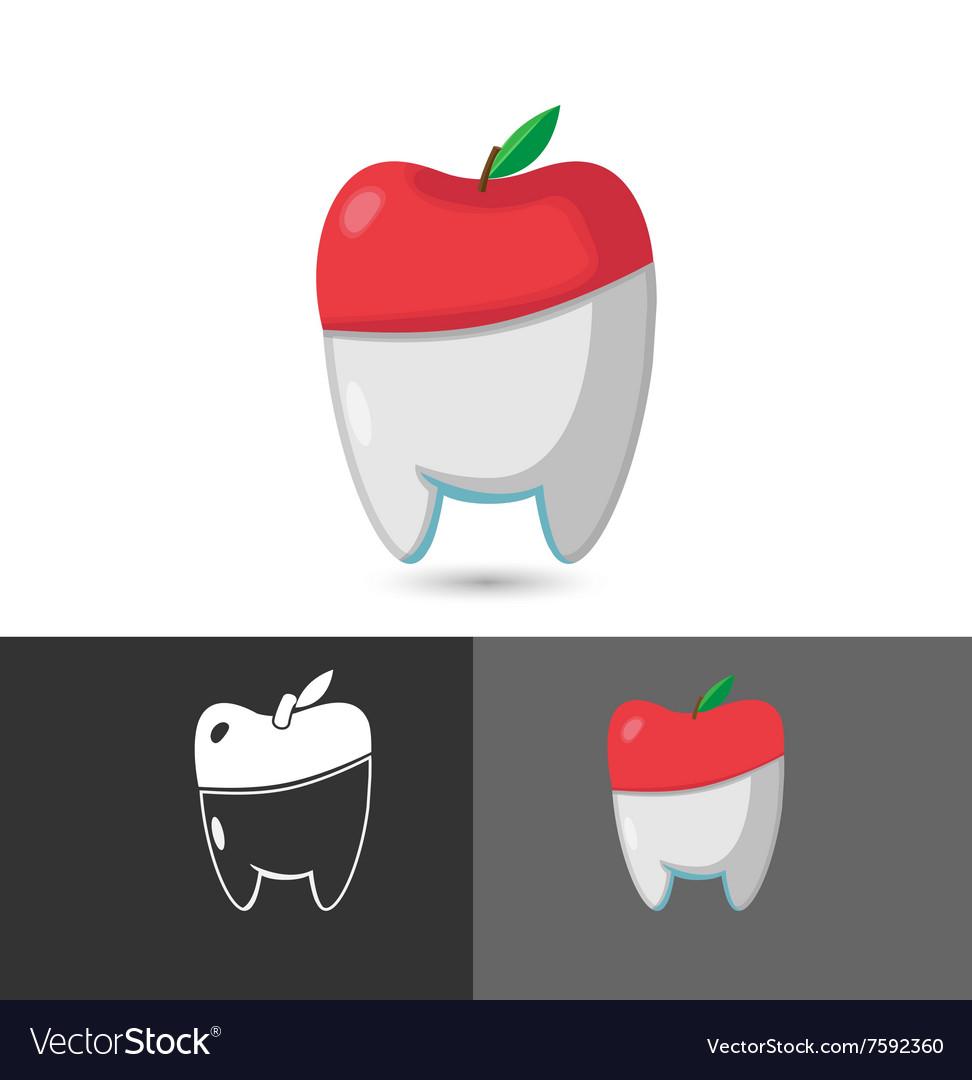 Dentist Dental Apple Symbol Icon Logo