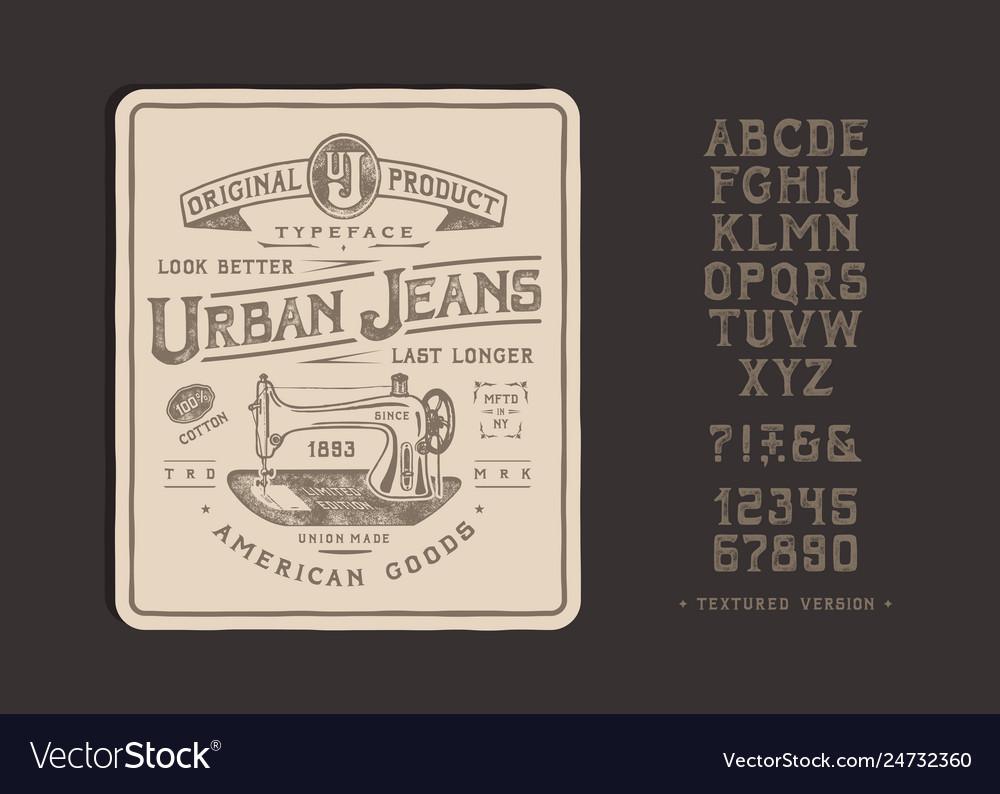 Font urban jeans