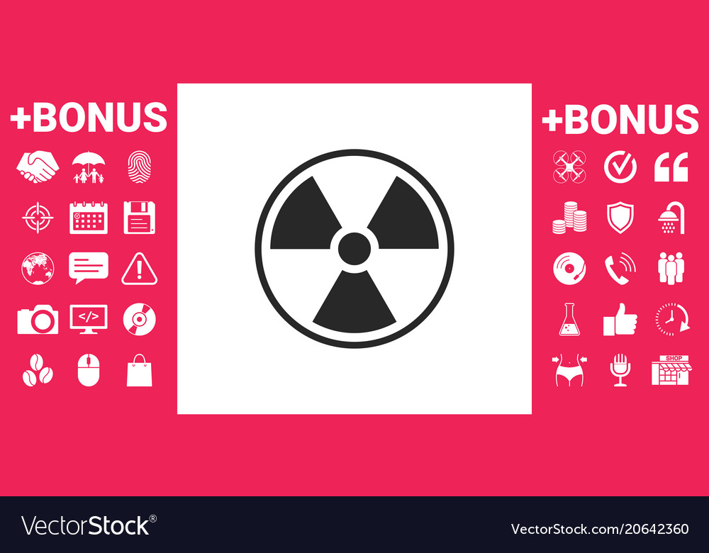 Ionizing Radiation Icon Royalty Free Vector Image