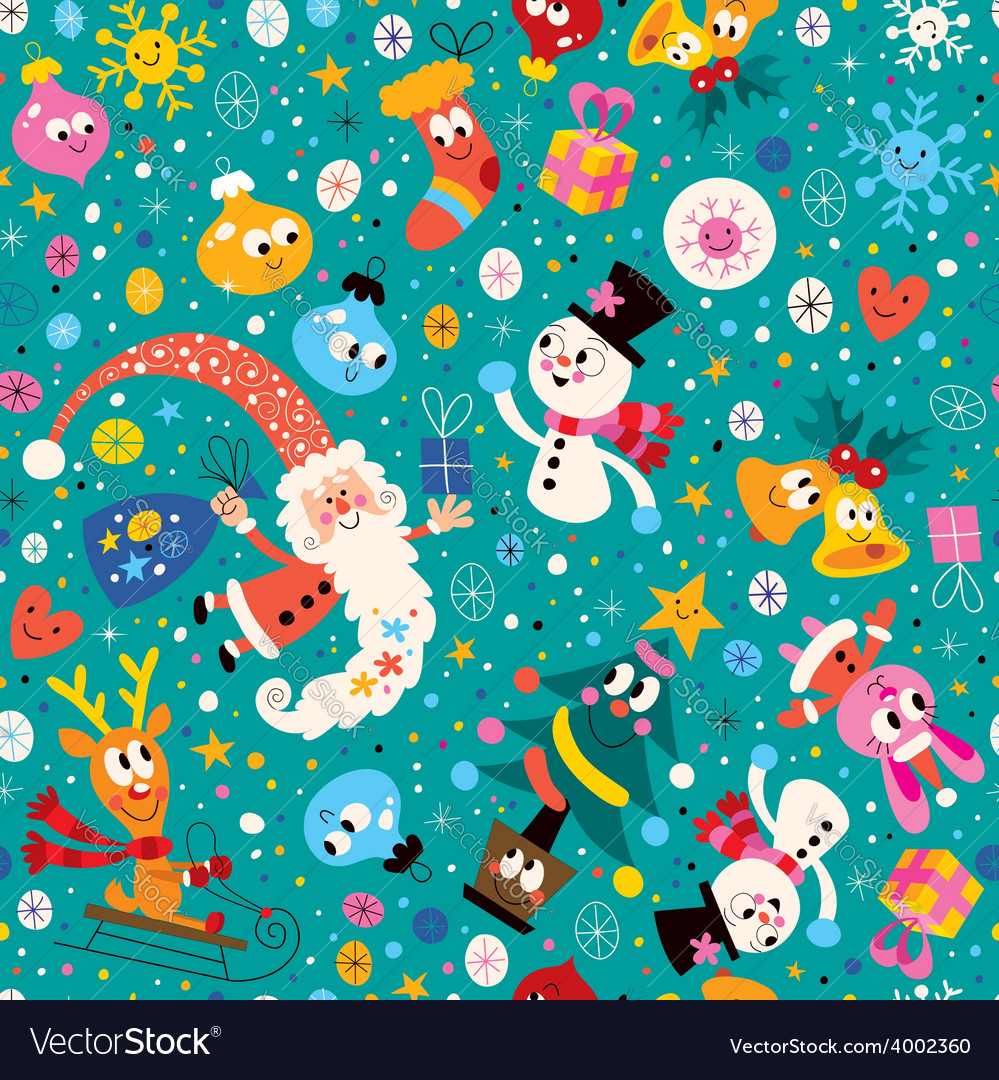 Merry Christmas and Happy New Year pattern 2