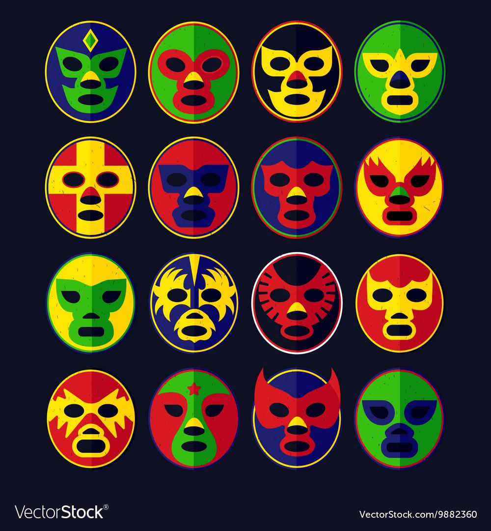 Mexican wrestling Masks set