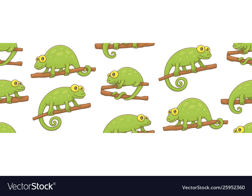 Seamless pattern with chameleons