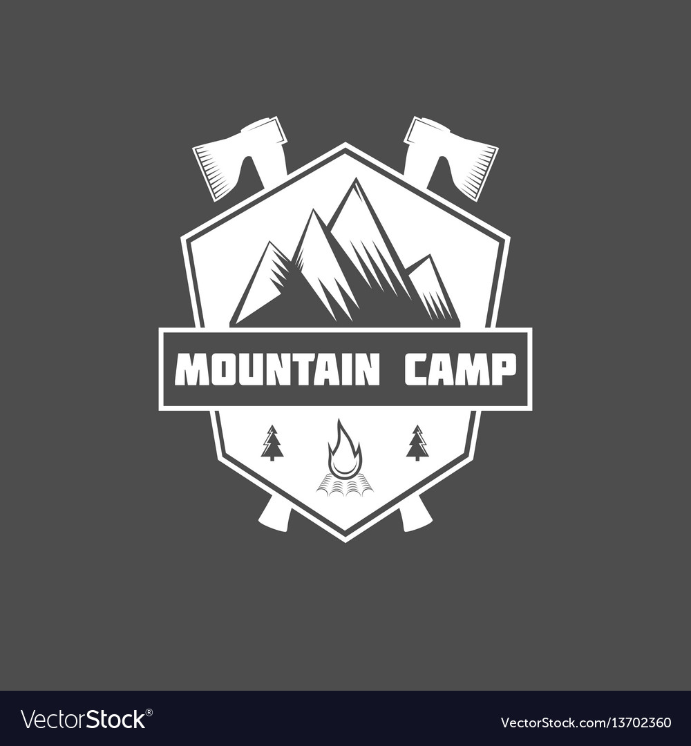 Set of vintage mountain explorer labels