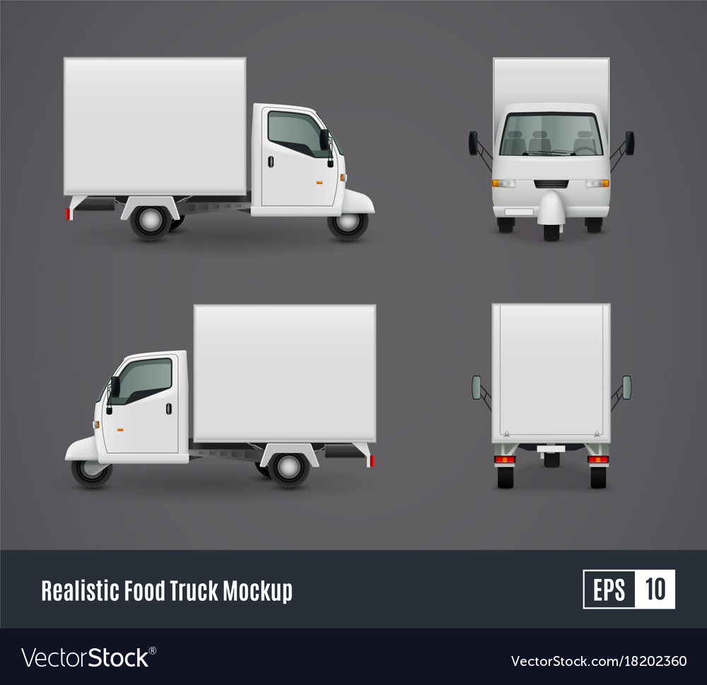 small food truck template royalty free vector image