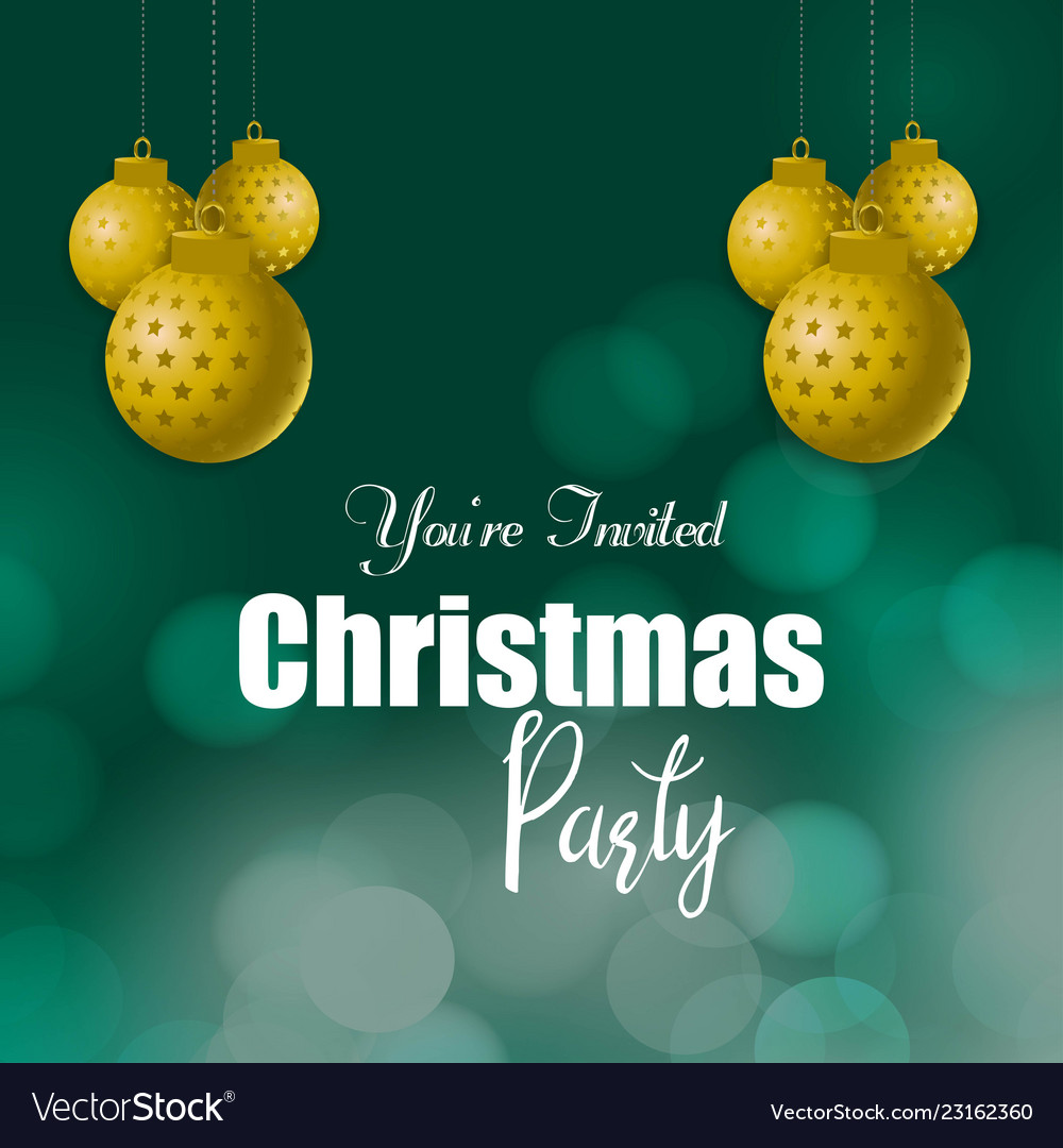 You are invited christmas party background