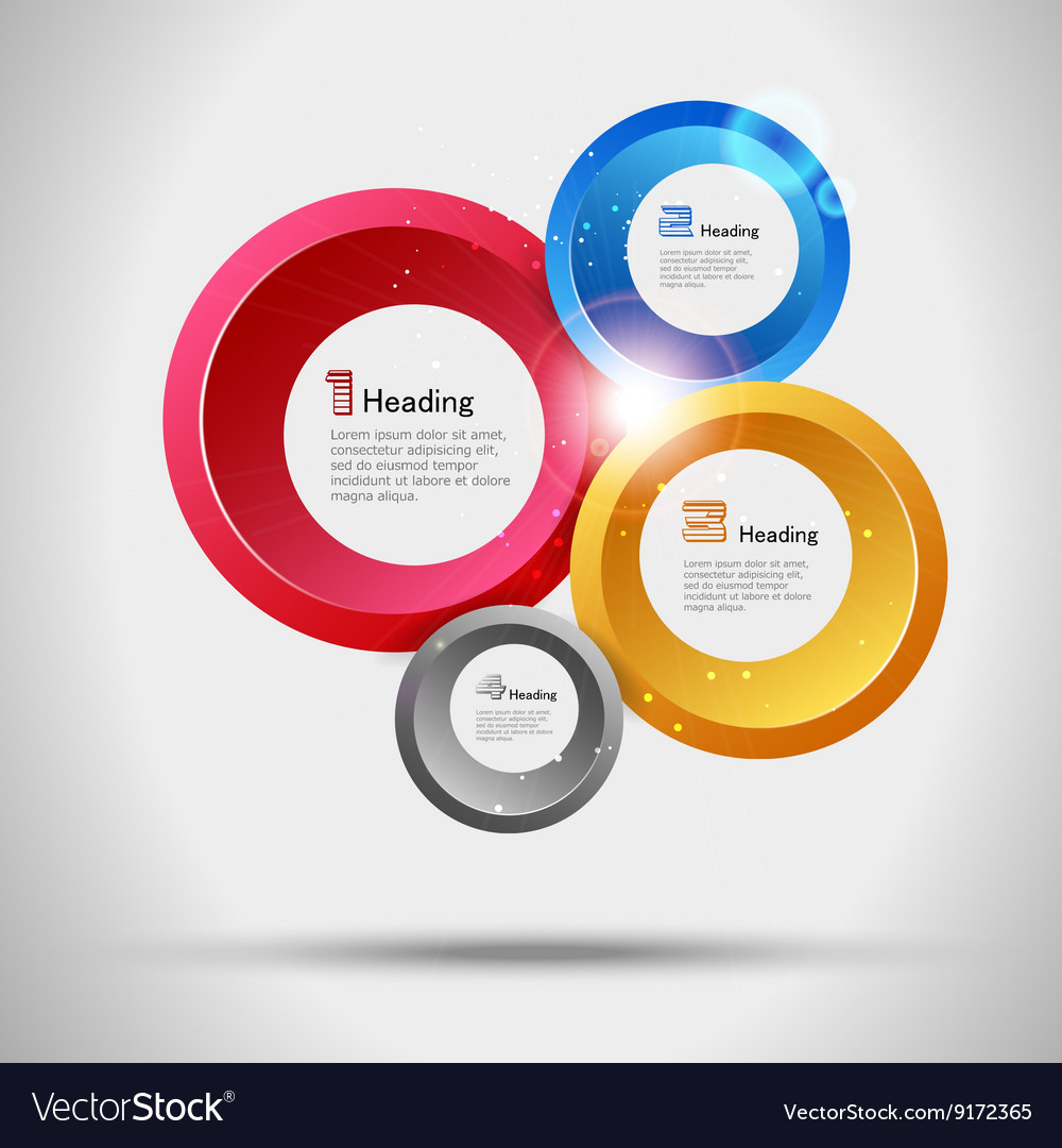 Abstract infographic trendy design options set