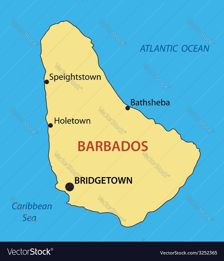 Barbados - map