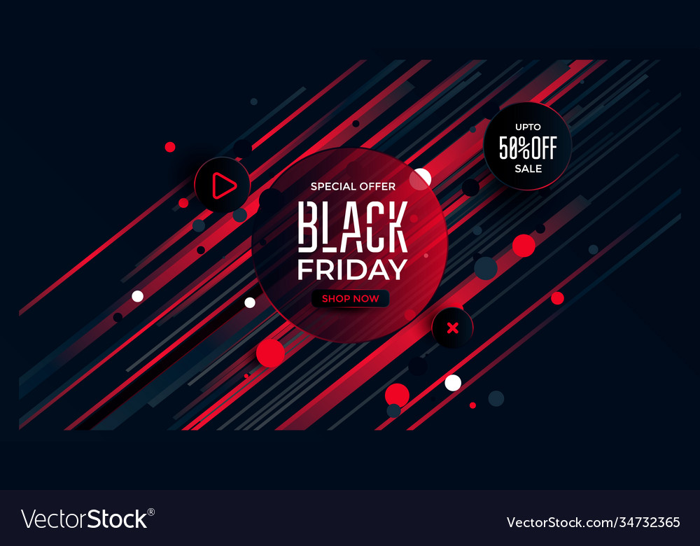 Black friday special offer black and red color