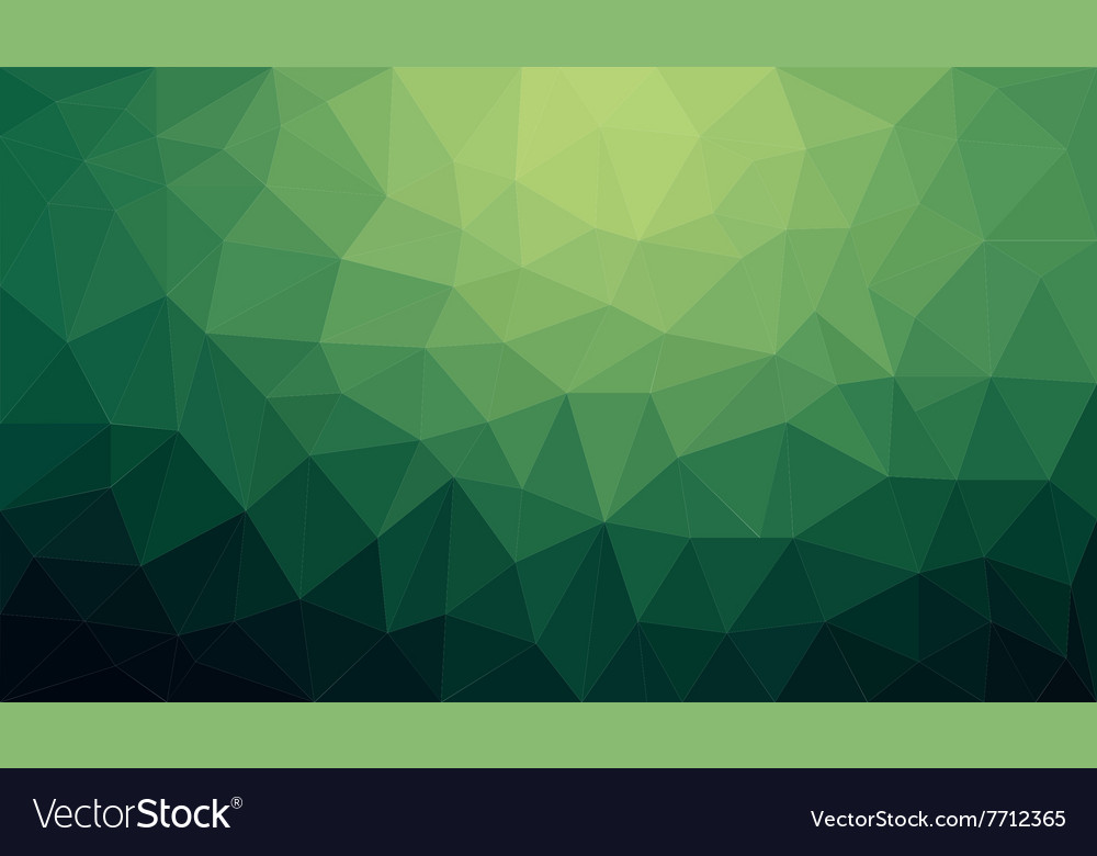 Green Gradient Abstract Polygon Background