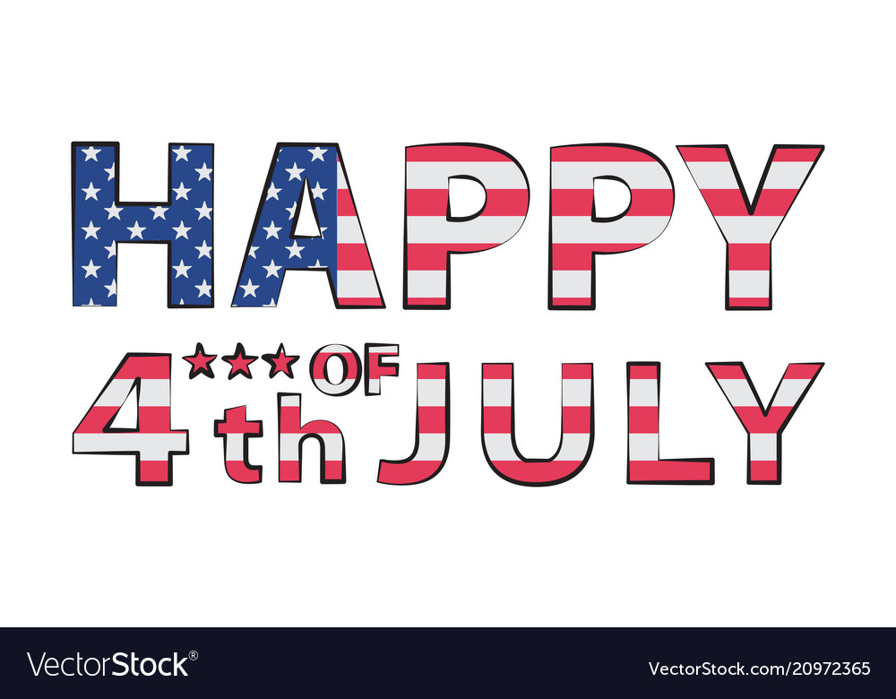 Happy 4th july in double
