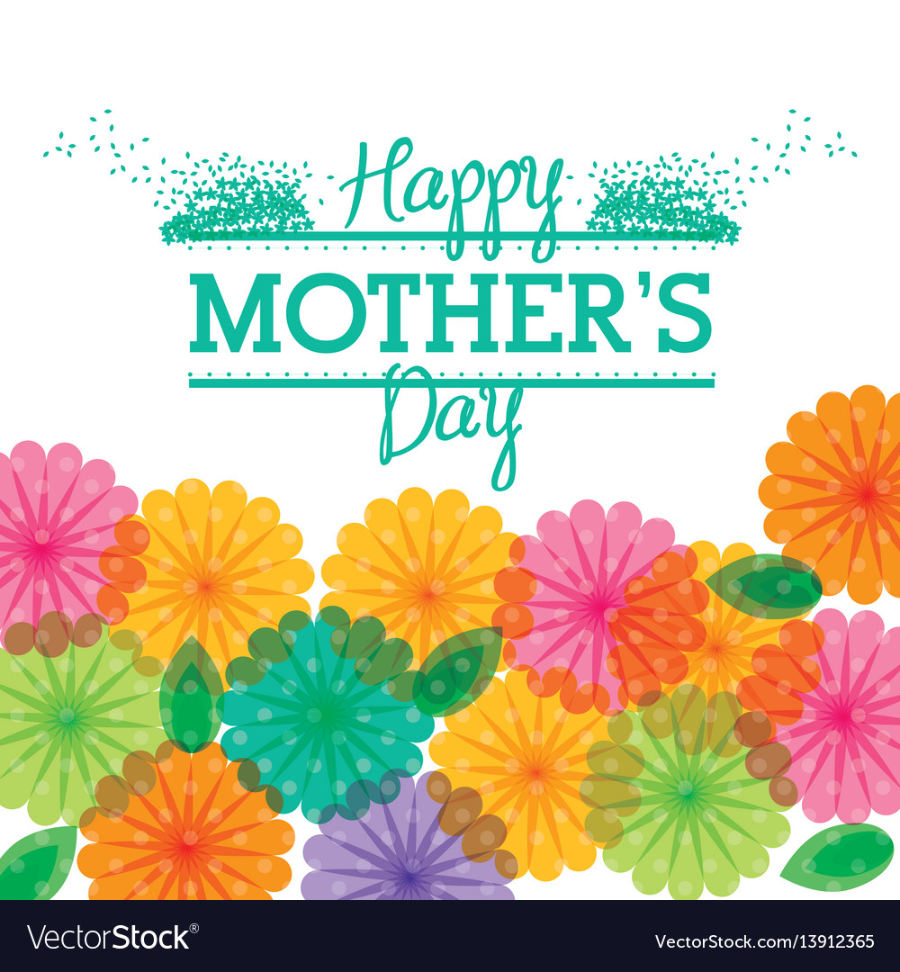 Happy mothers day greeting flower transparent