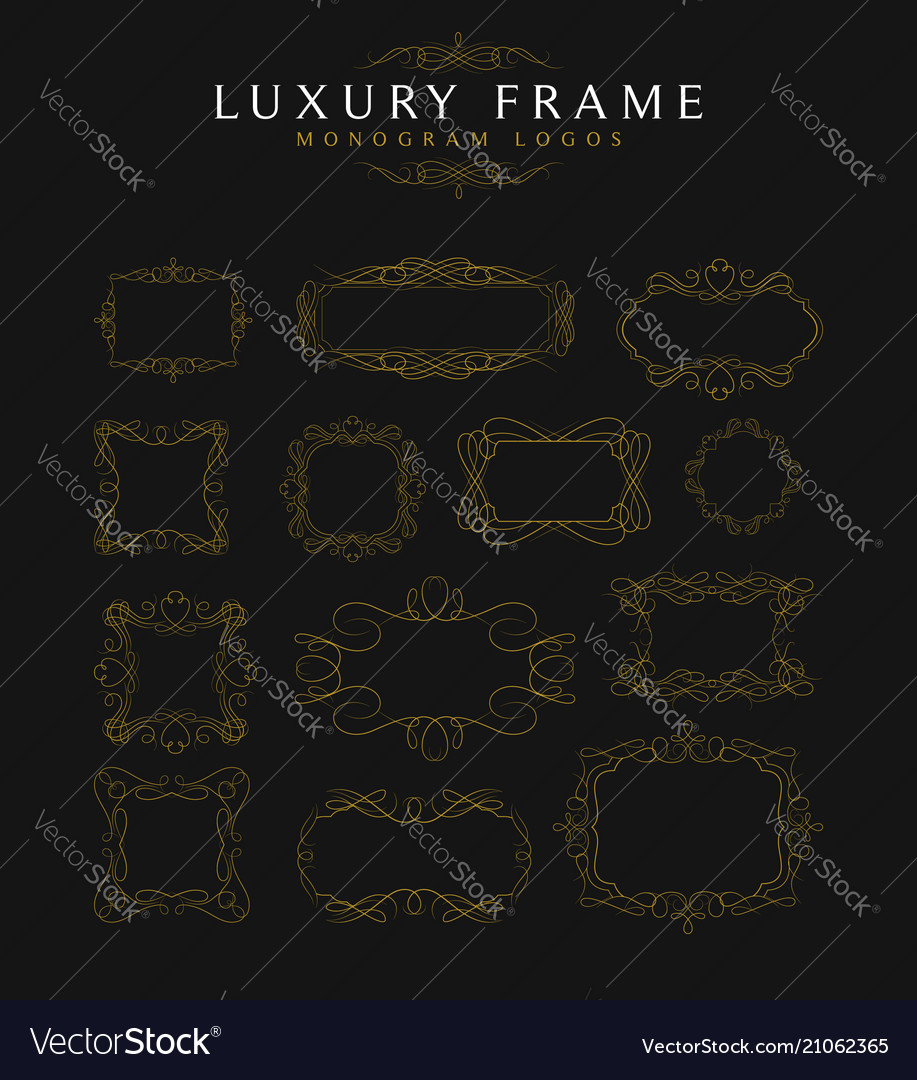 Luxury frames calligraphy templates