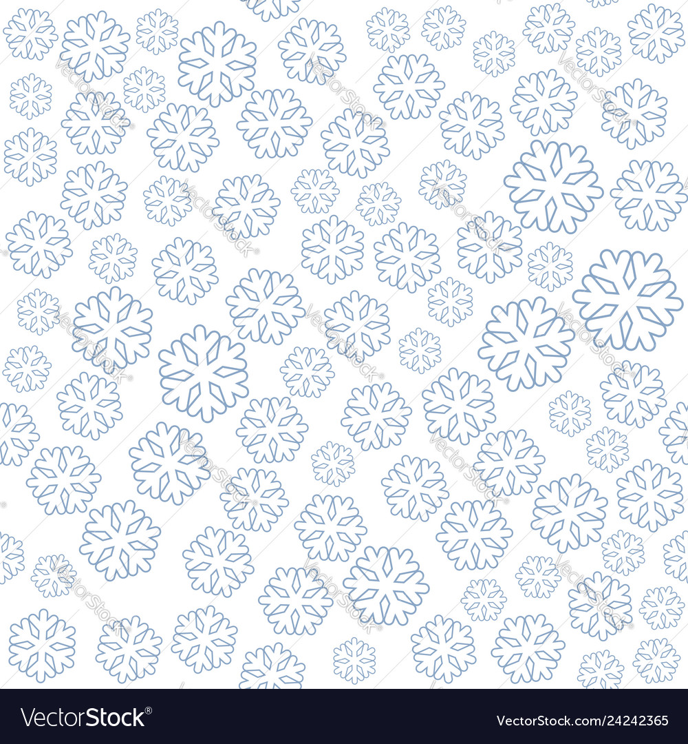 Seamless winter new year pattern with snowflakes