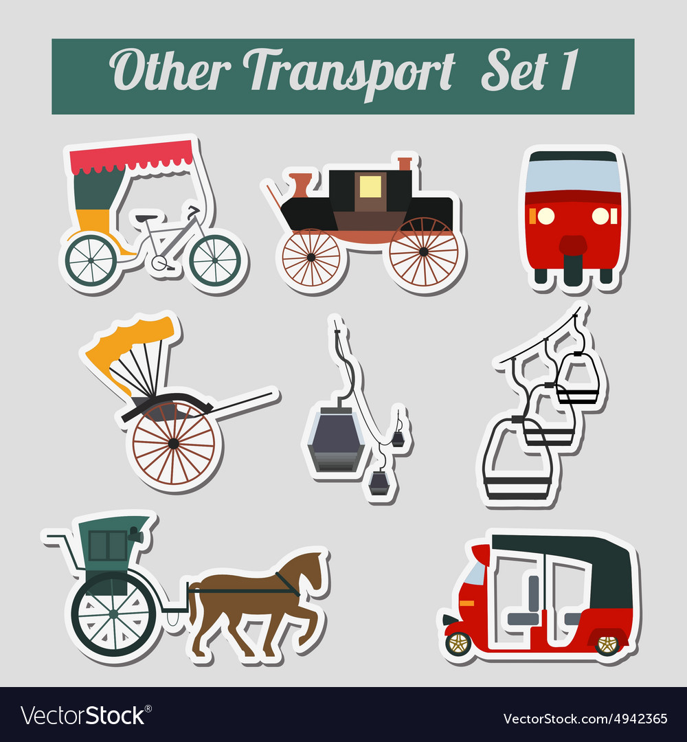 Traims trolleybuses set 1 vector image
