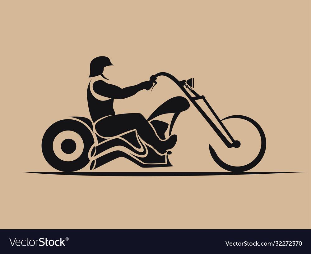 Biker motorcycle grunge silhouette retro