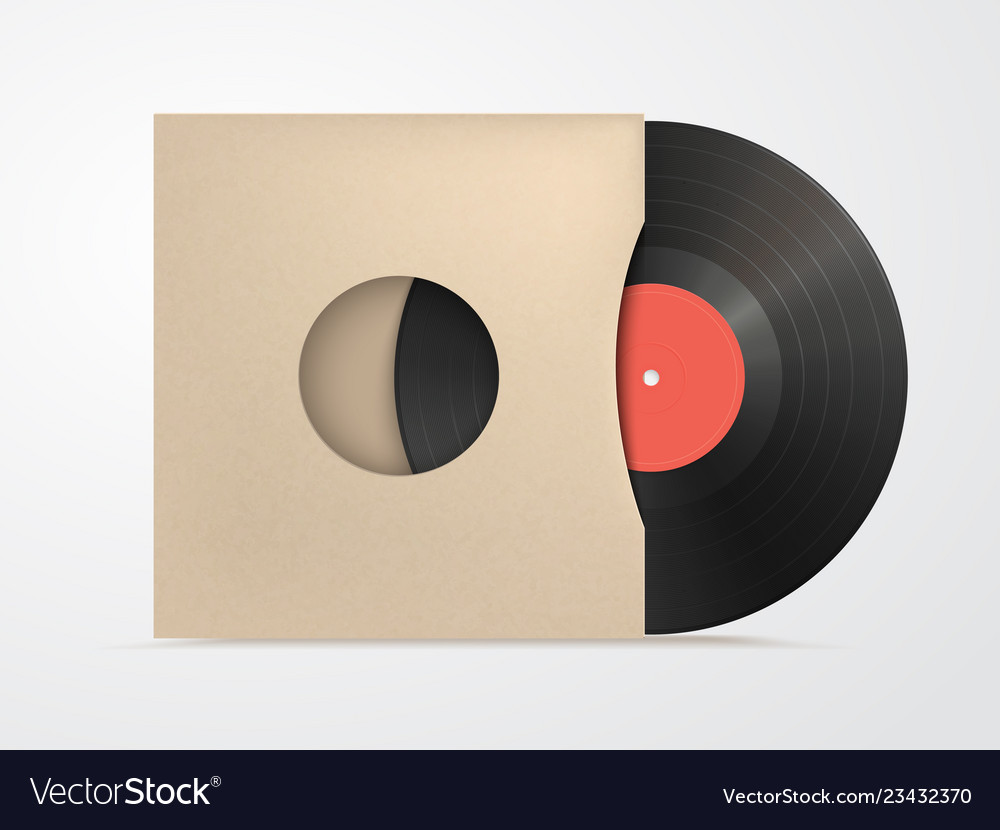 Classic design template with vinyl and cover