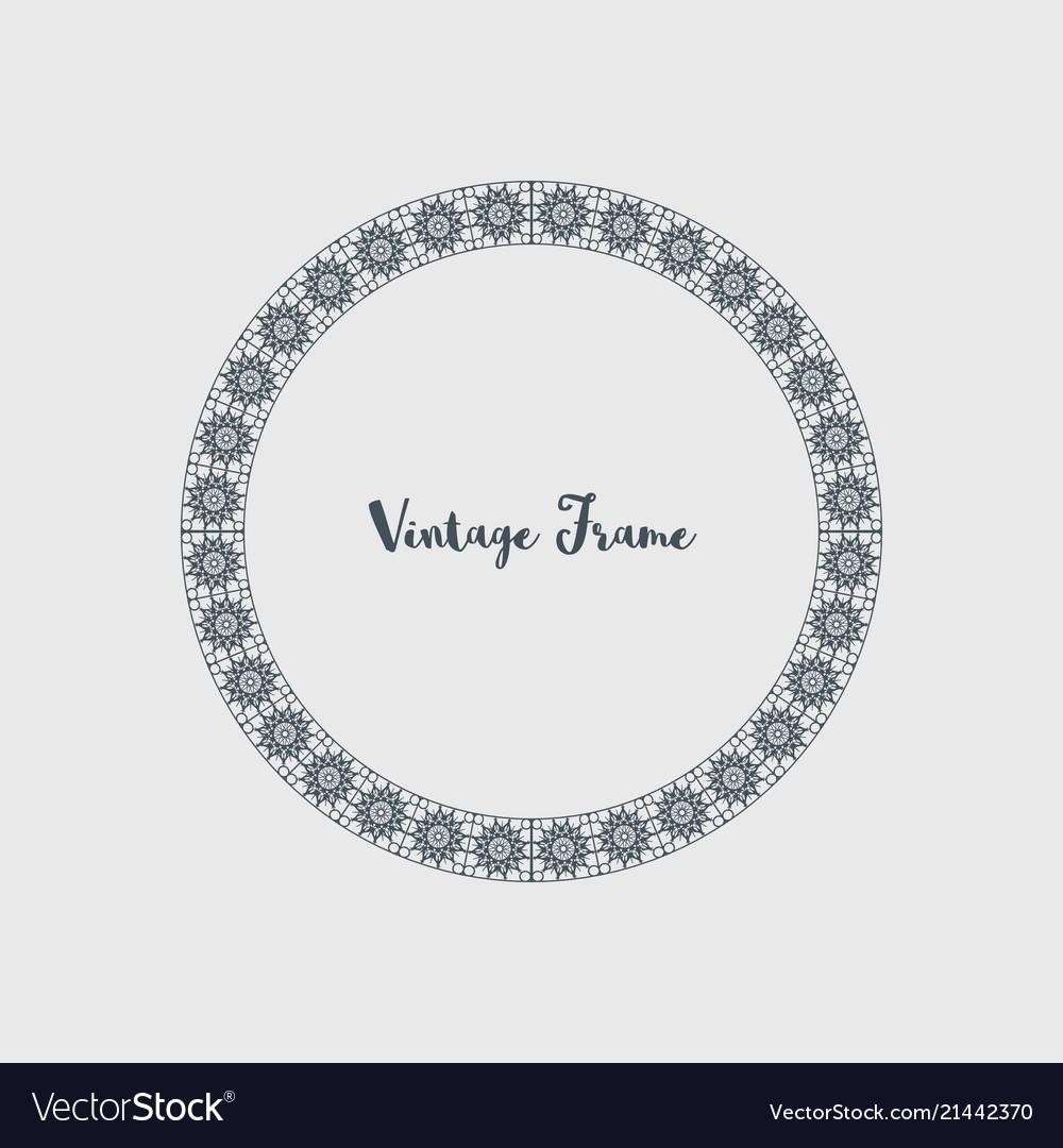 Decorative circle frame