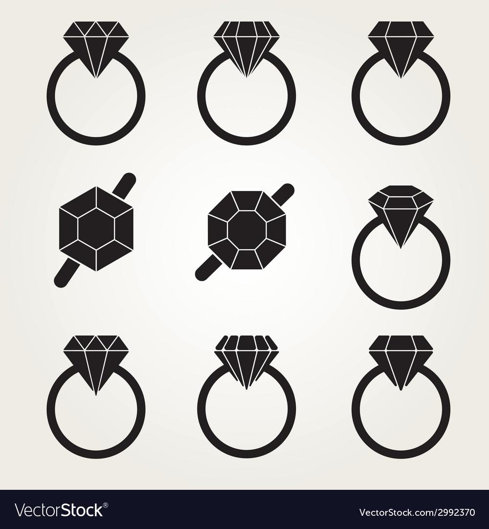 Diamond Icon Symbol Set
