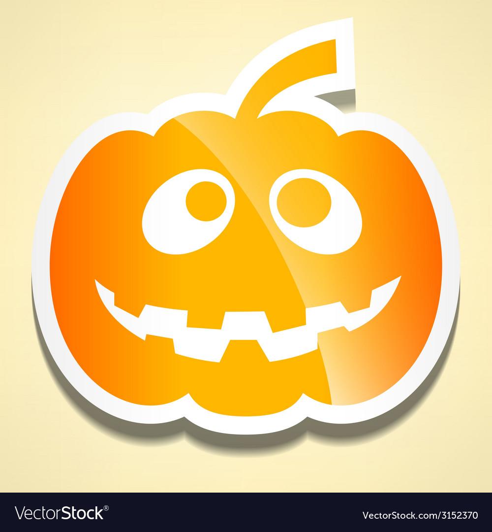 Flat cute pumpkin with shadow