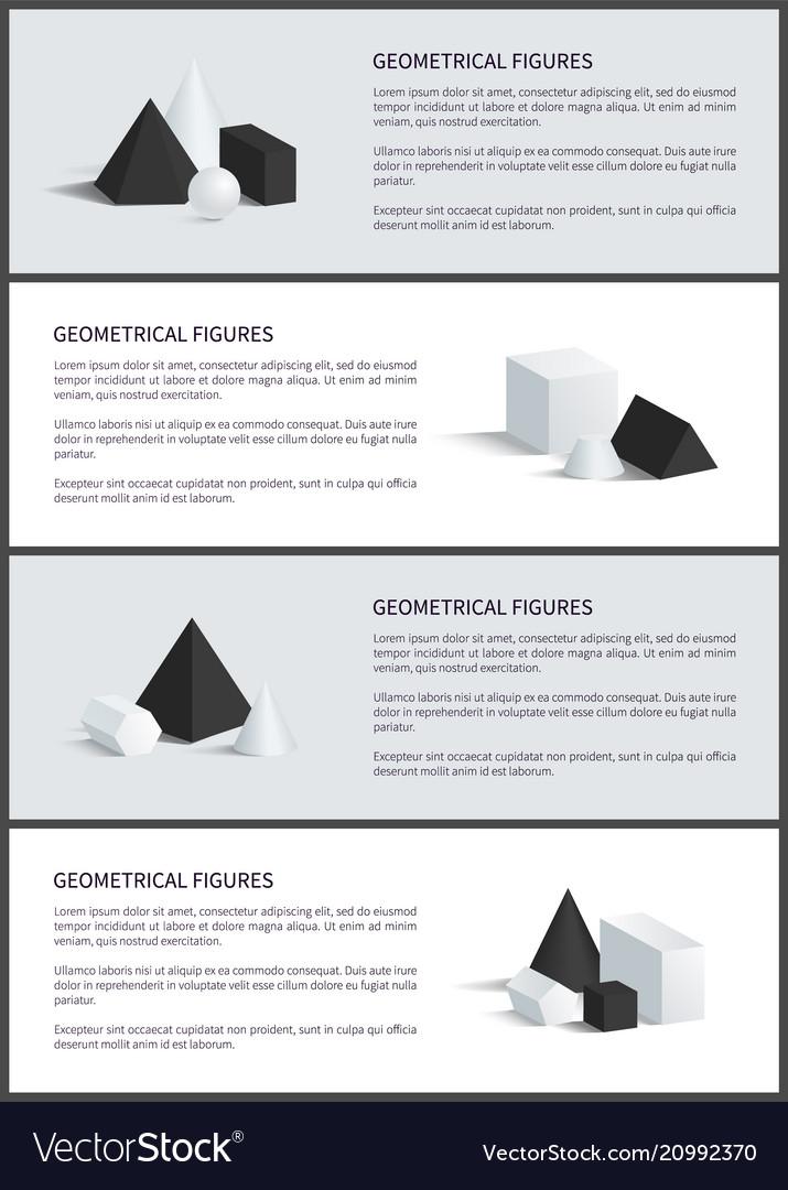 Geometrical figures set poster