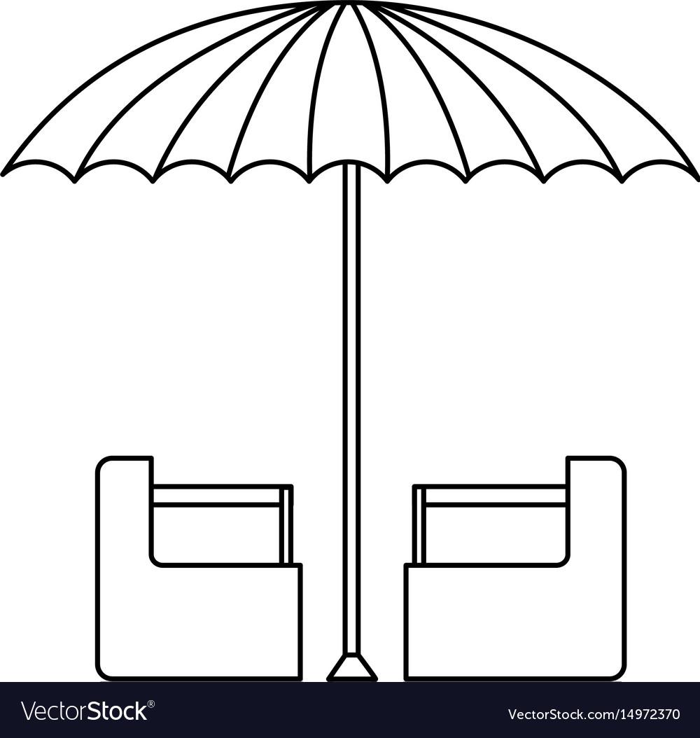Green and white umbrella circus clown equipment vector image