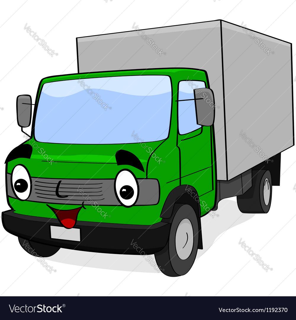 Happy truck vector image