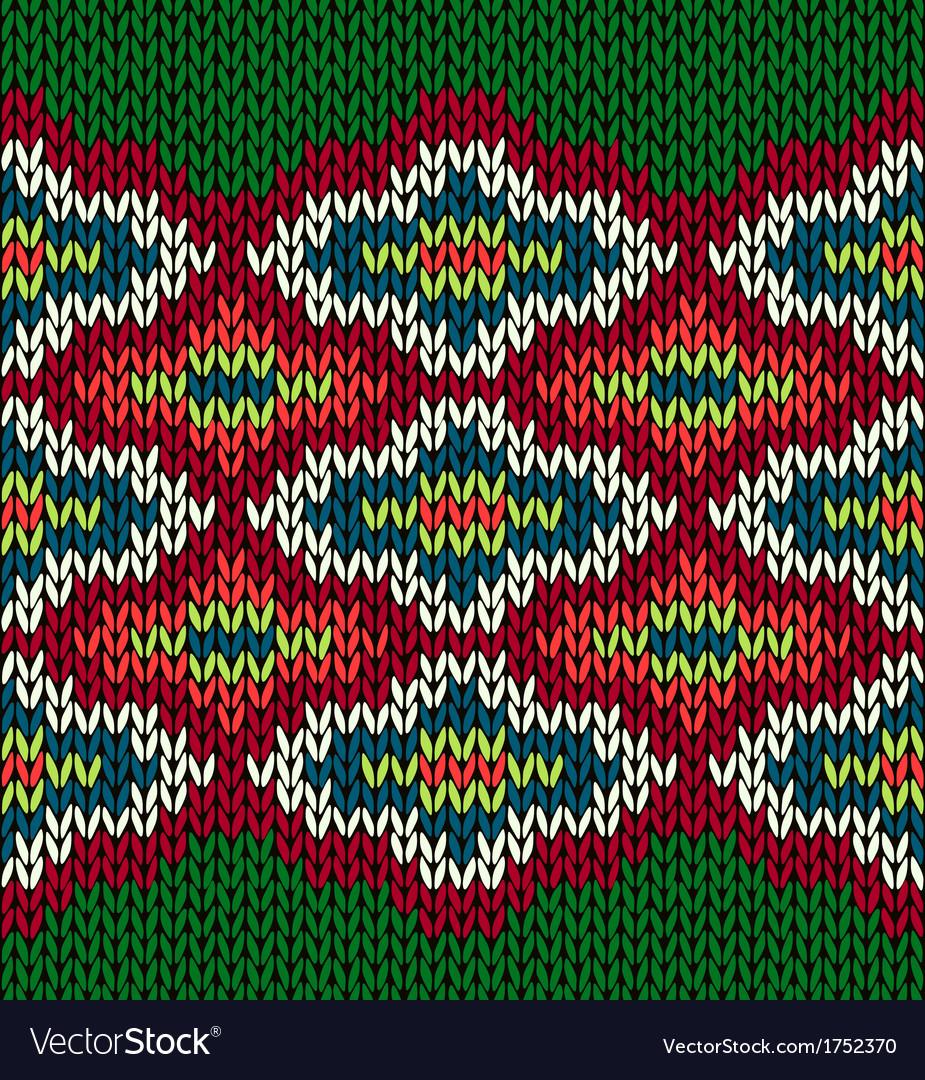 Knit Seamless Jacquard Ornament Pattern vector image