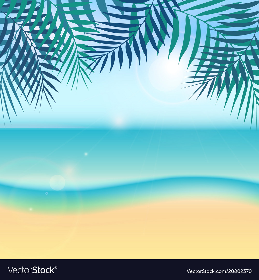 Nature summer vacation tropical background with