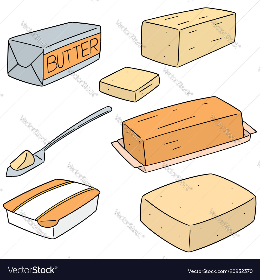 Set of butter