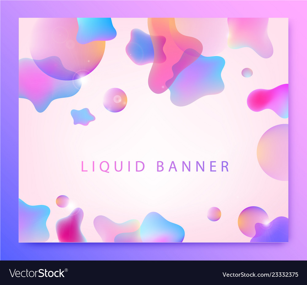 Abstract liquid bckground fluid 3d shapes