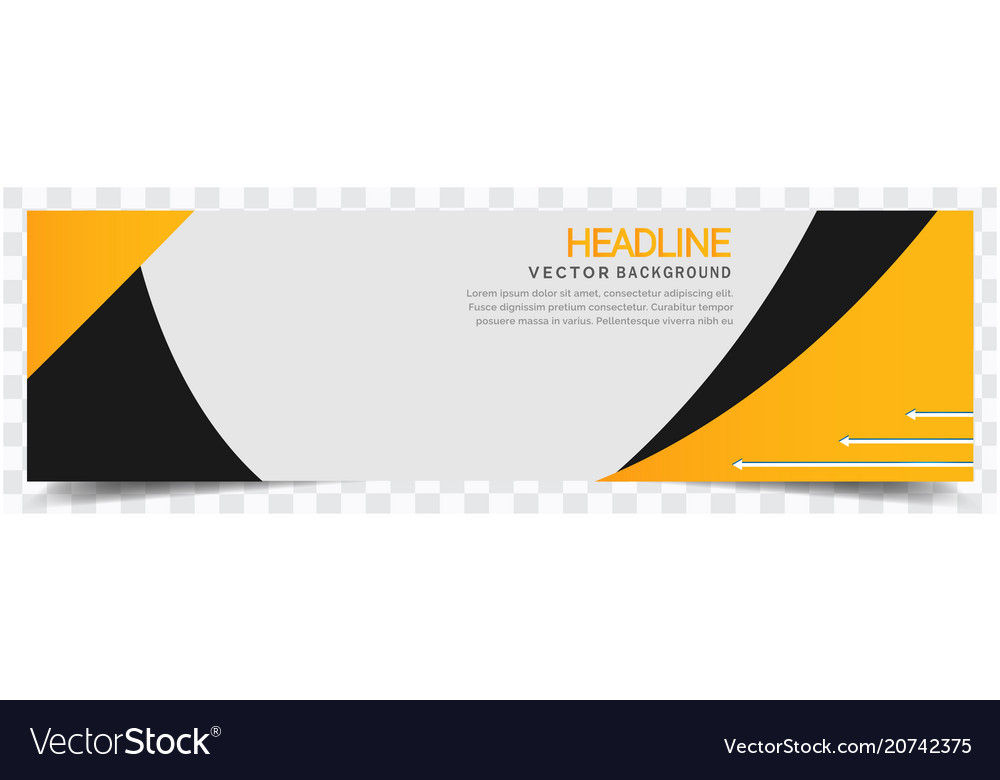 Abstract yellow black white background headline ve