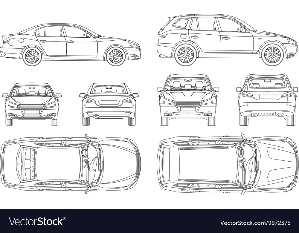 This is a graphic of Amazing Side View Of Car Drawing