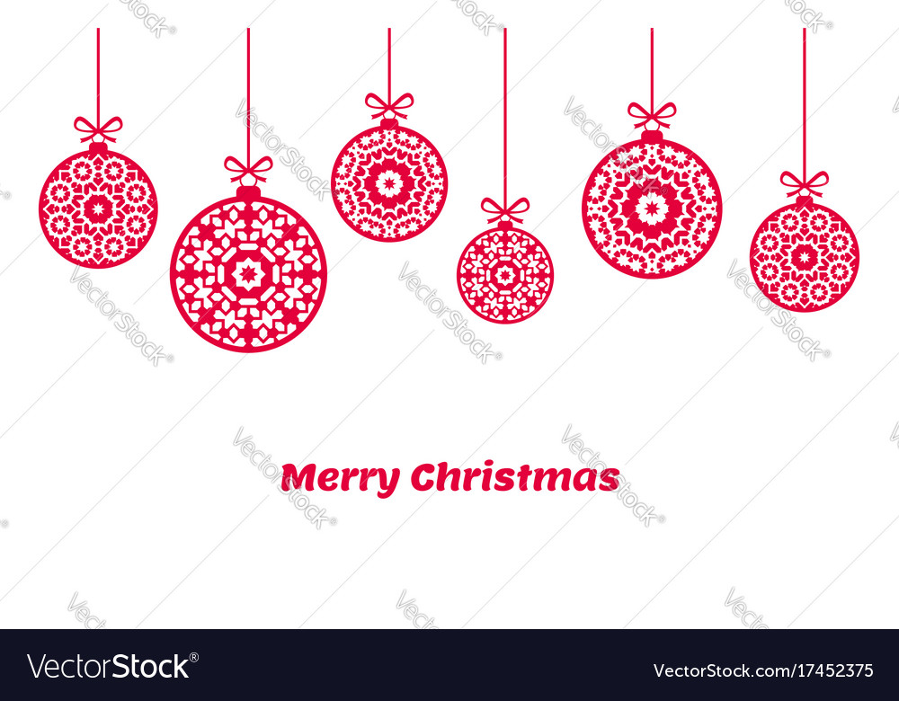 christmas balls ornaments xmas decoration vector image - Christmas Balls Ornaments