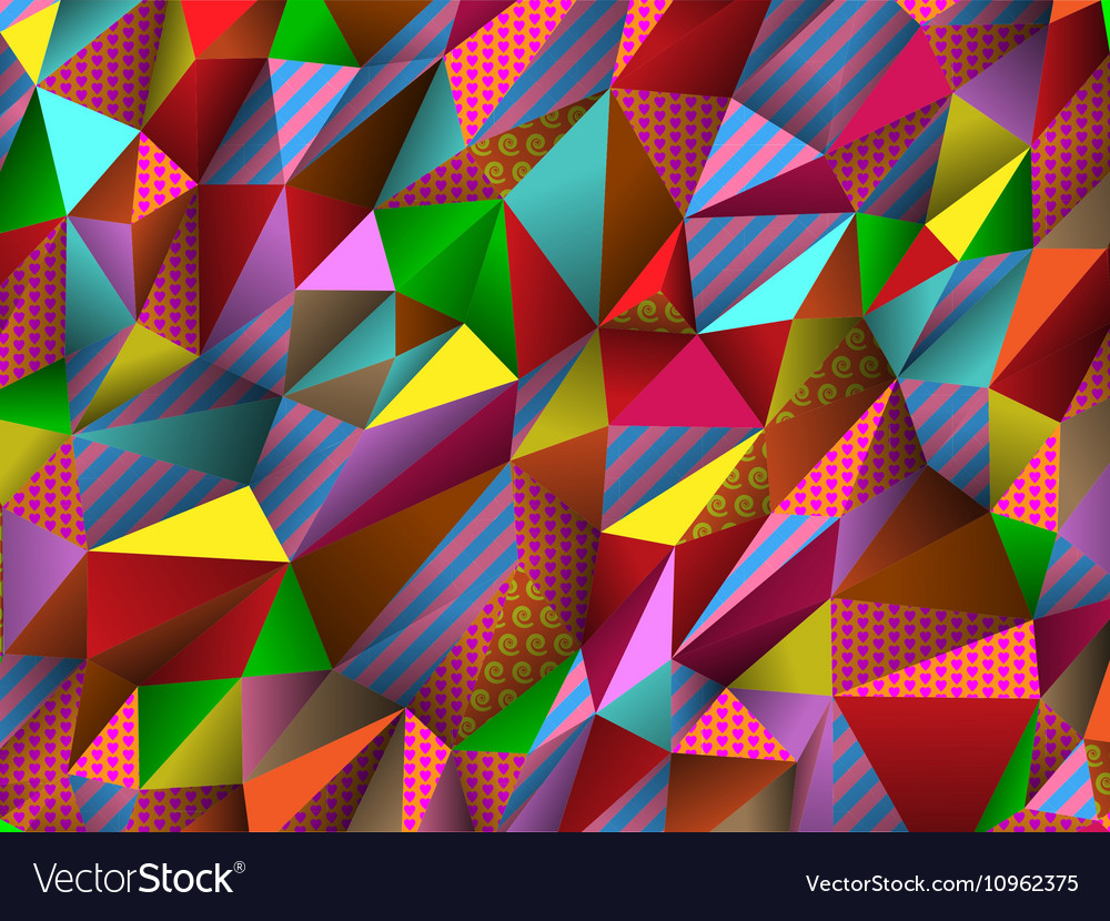 Color abstract low-poly polygonal triangular