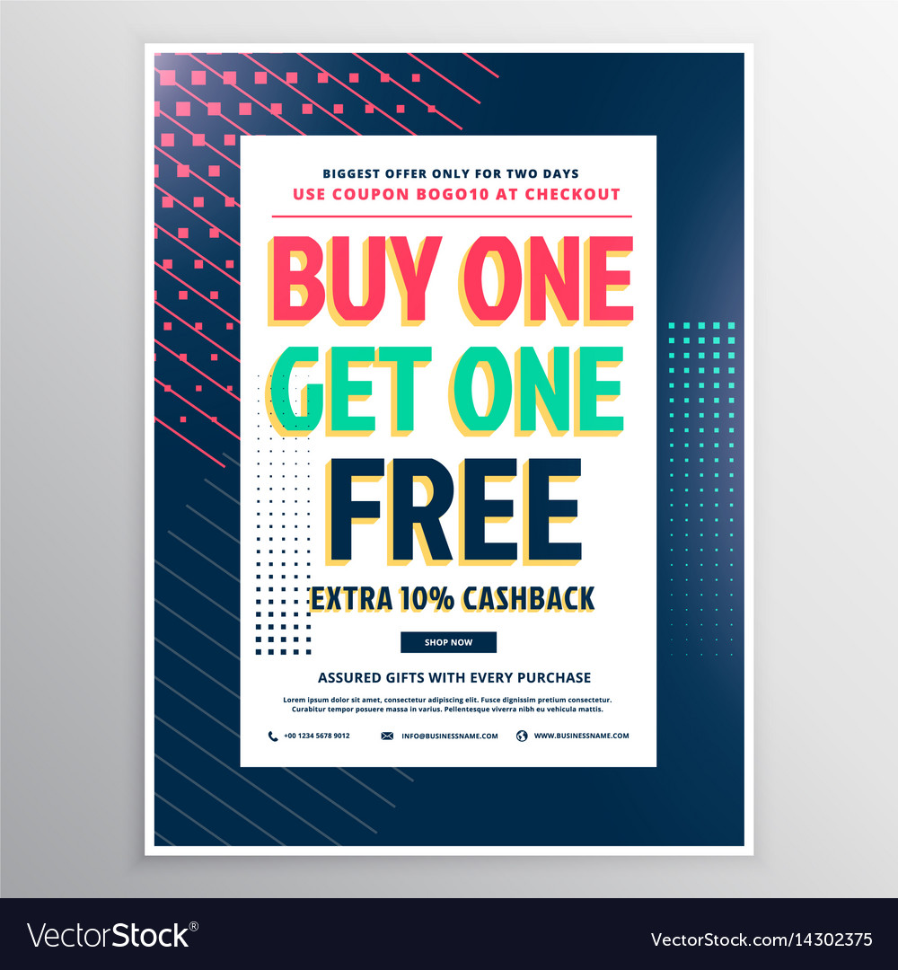 Discount voucher template design for promotion vector image