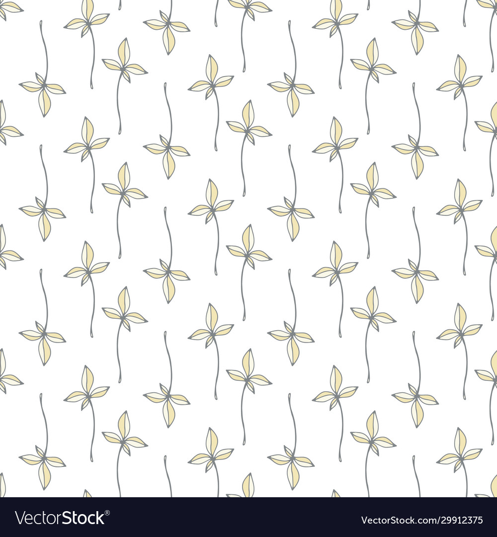 Floral garden beautiful leaves seamless pattern
