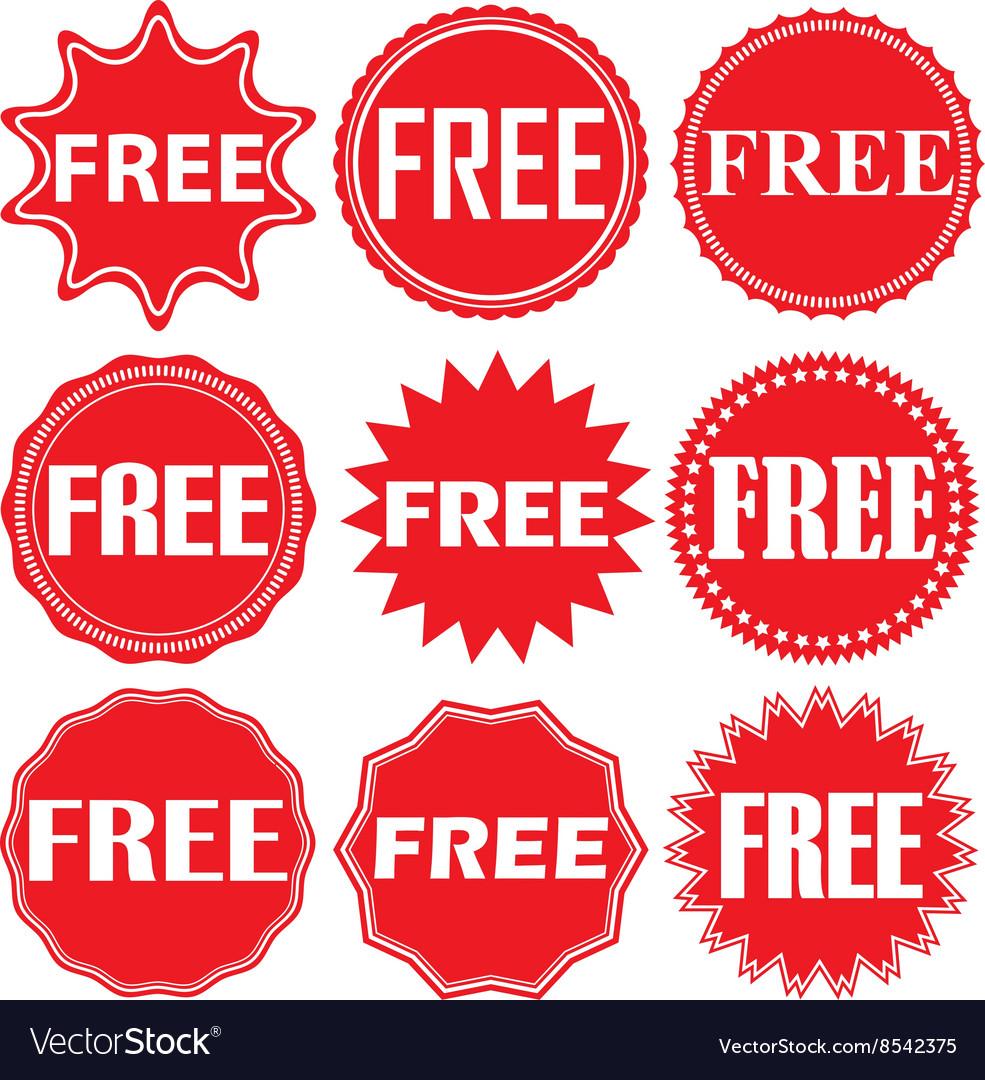 Free signs set free sticker set