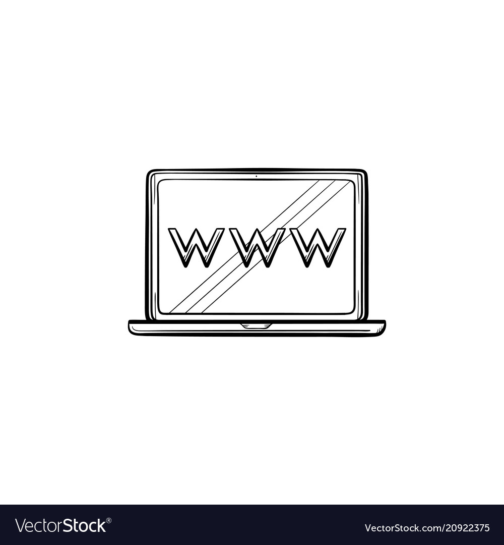 Laptop computer screen with web browser window